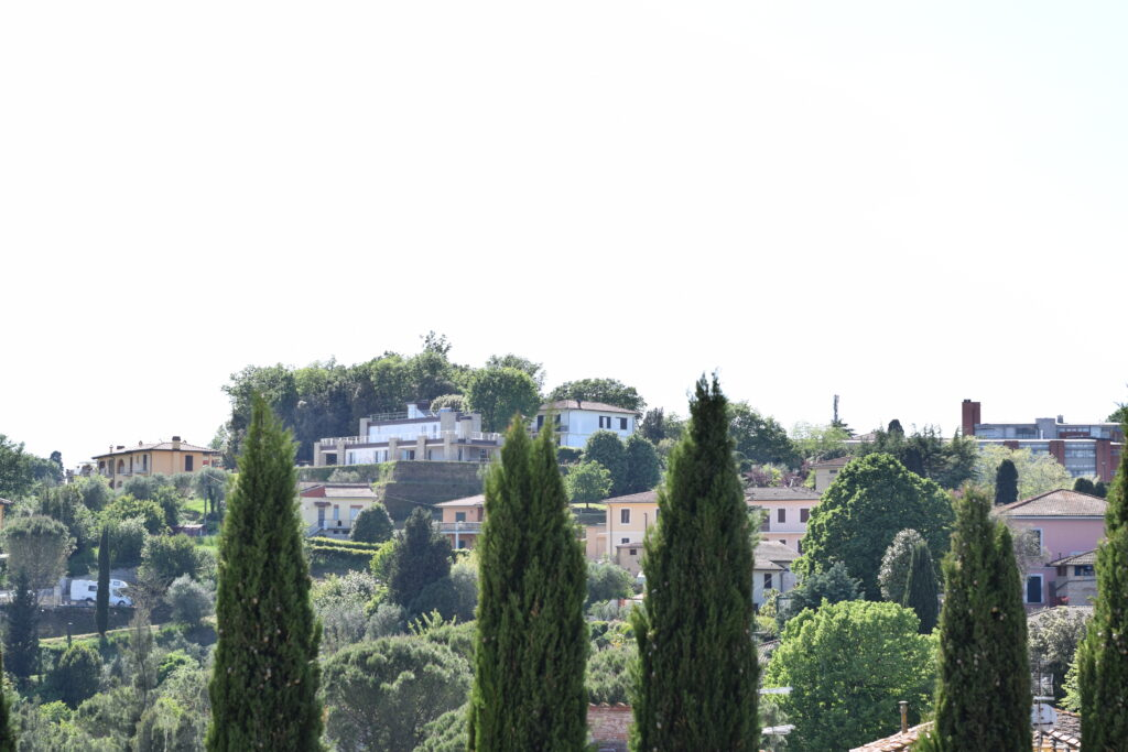Vista dal parco archeologico di Santa Maria a Monte in Toscana