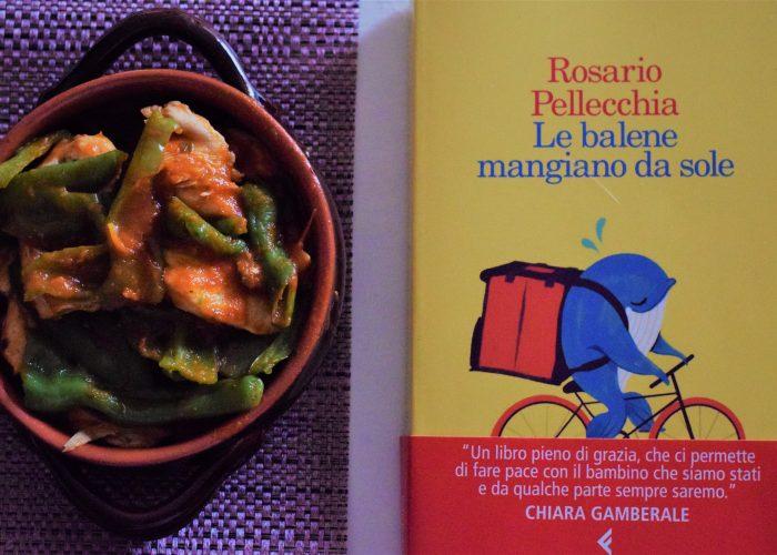 Libro edito Feltrinelli dal titolo Le balene mangiano da sole di Rosario Pellecchia con pollo alla romana